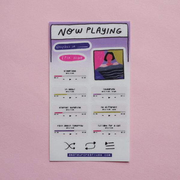 Epik High Sleepless In Sticker Sheet